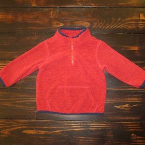 Gymboree Red & Navy Blue Fleece Pullover Jacket